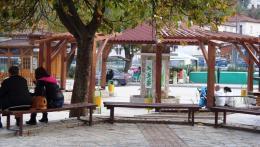 Кът за отдих и наблюдение в град Девин