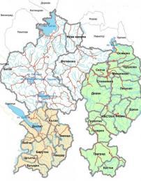 """Карта на Рибарска област """"Високи Западни Родопи: Батак - Девин - Доспат"""""""